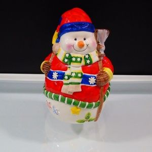 Cookie Jar Snowman Christmas Collection